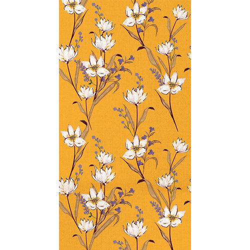 Mural autoadhesivo flower vintage amarillo 132x250 cm