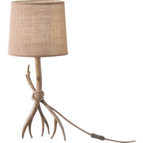 Lámpara de sobremesa mantra sabina 1 luz beige