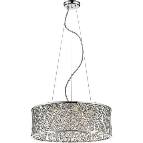 Lámpara de techo destello plateada 7 luces