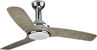 Ventilador de techo con luz LED INSPIRE Gandia 132 cm Plata