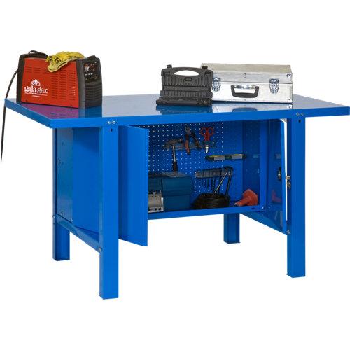 Banco de trabajo bt6 180 profesional azul con armario