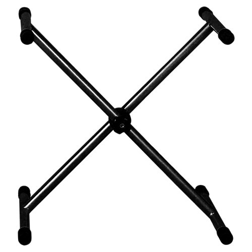 Caballete de acero negro regulable y altura de 107 cm