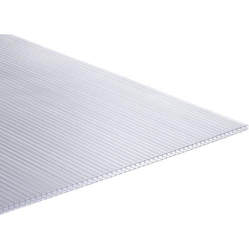 Placa de policarbonato celular de 2000x980x4 mm