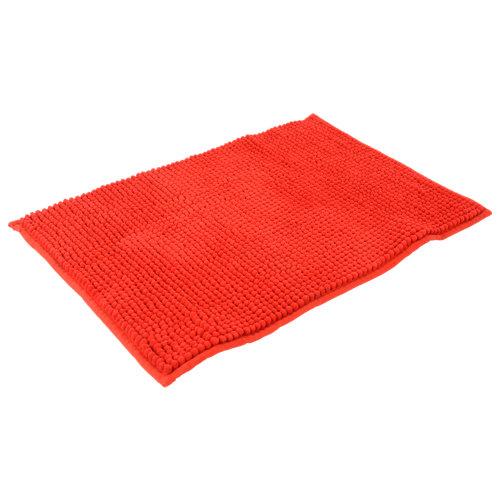 Alfombra de baño chenille rectangular rojo 40x60 cm