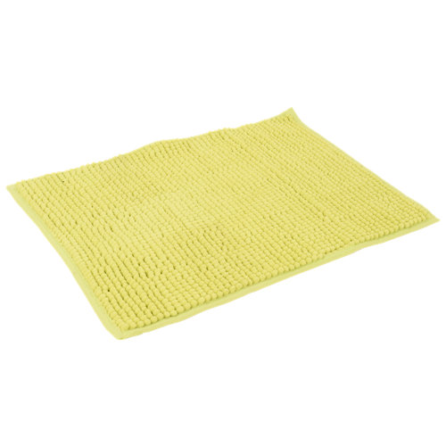 Alfombra de baño chenille rectangular pistacho 40x60 cm