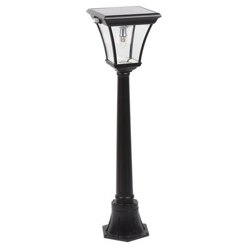 Columna solar pegaso negra 5w de potencia y 24.8cm de alto