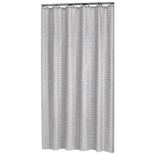 Cortina de baño wave negro algodón+poliéster 180x200 cm