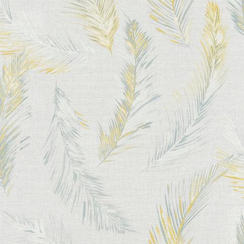 Papel pintado vegetal four seasons gris para 5,3 m²