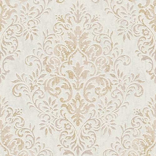 Papel pintado espumante medallón jette beige