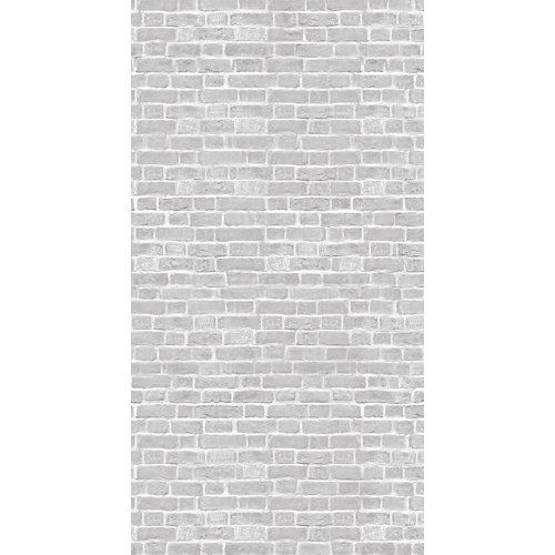 Mural autoadhesivo grey brick blanco 132x250 cm