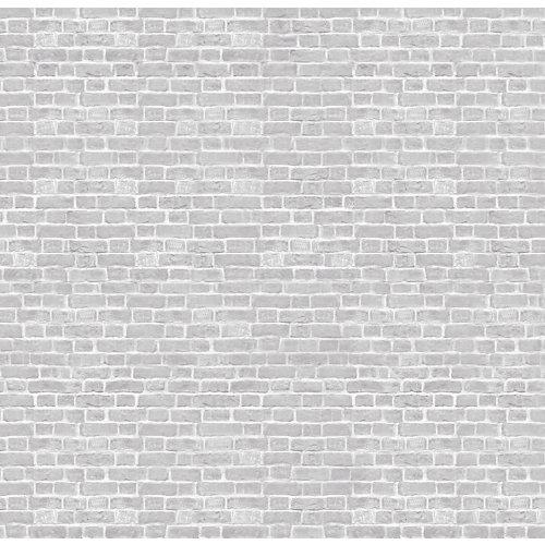 Papel pintado autoadhesivo grey brick 257x250 cm