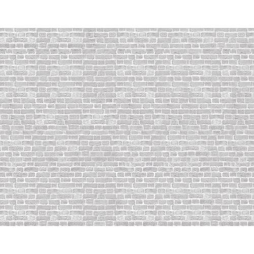 Mural decorativo autoadhesivo grey brick 321x250 cm