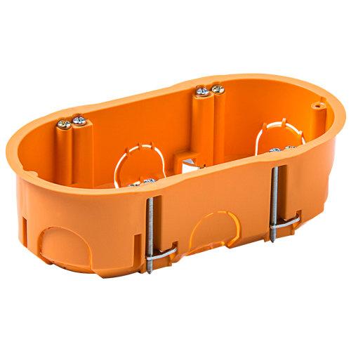 Caja 2 mecanismos pladur redondo 142x75x45 mm