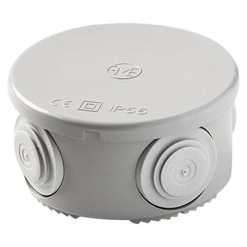 Caja de conexión estanca ip55 redonda 70x70x36 mm