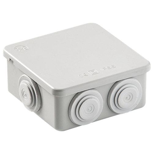 Caja de conexión estanca 7 conos ip55 80x80 mm