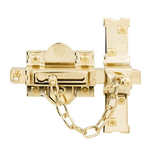Cerrojo de seguridad botón/llave de 85 mm ancho dorado