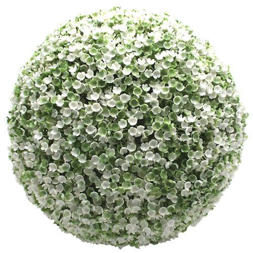 Boj artificial verde y blanco ø23 cm
