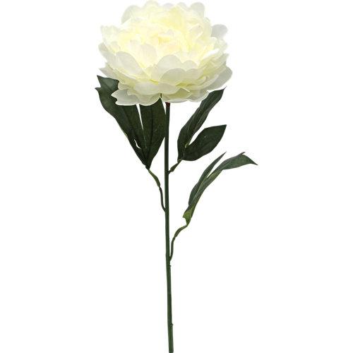 Peonía artificial blanca 65 cm