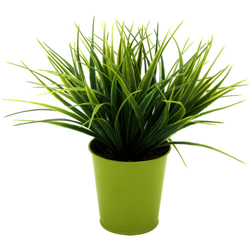 Planta artificial grass en maceta ø10 cm