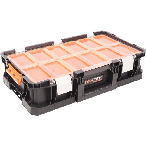 Caja de herramientas dexter pro con capacidad de 14.3 litros