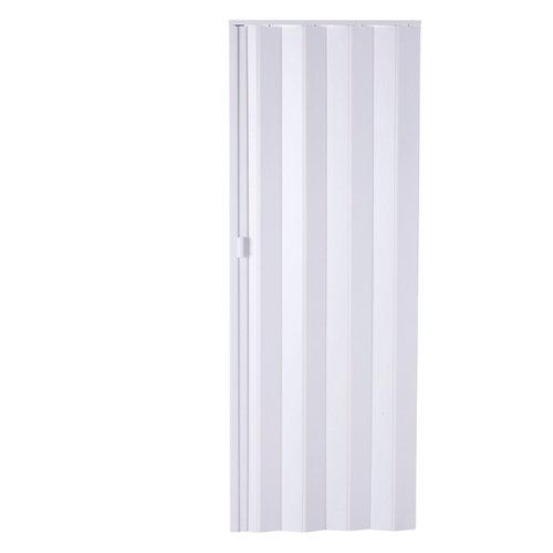 Puerta plegable de pvc blanco 83 x 205 cm