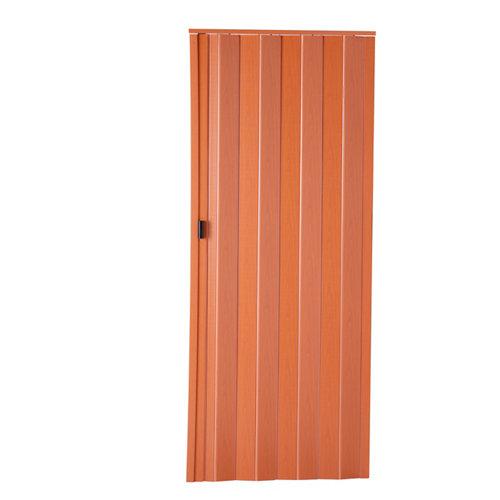 Puerta plegable de pvc cerezo 85 x 203 cm