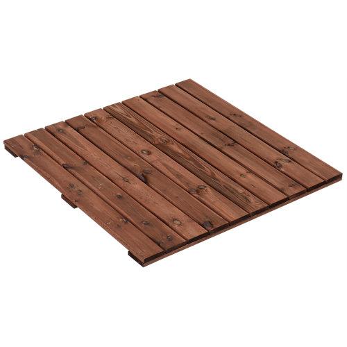 Baldosa de madera de pino tintada 100x100 cm y 40 mm