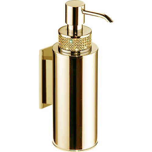 Dispensador de jabón carmen de latón amarillo / dorado