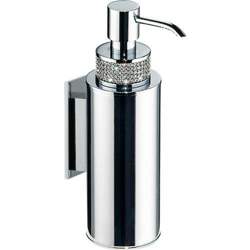 Dispensador de jabón carmen de latón gris / plata