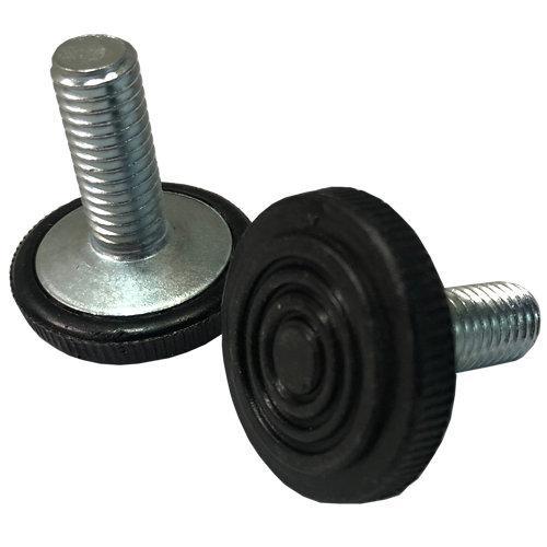 Nivelador regulable con forma cilíndrica de acero