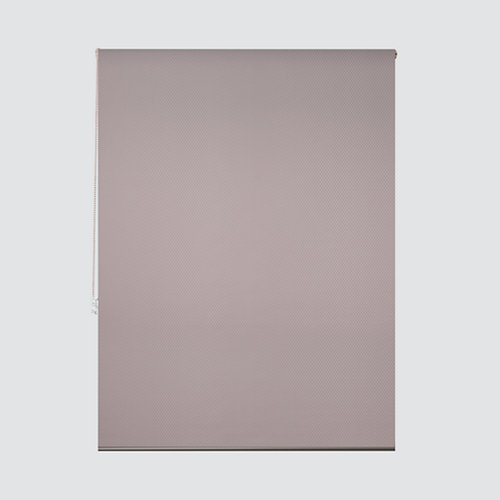 Estor enrollable translúcido ribbed marfil marrón de 109x250cm