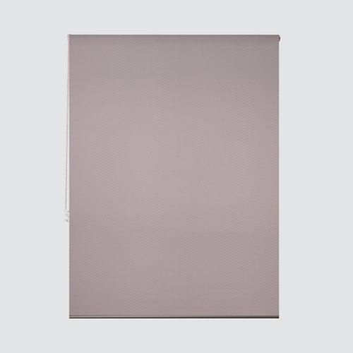 Estor enrollable translúcido ribbed marfil marrón de 124x250cm