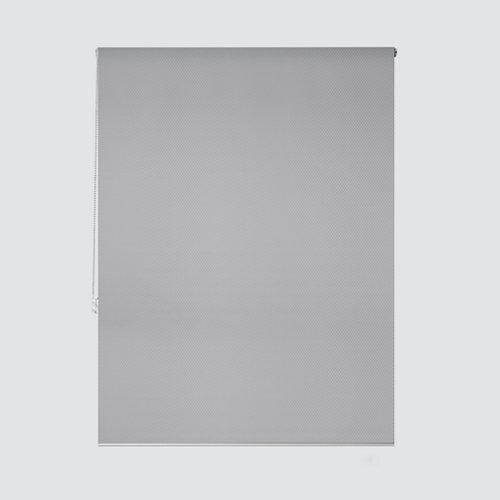 Estor enrollable translúcido ribbed gris gris de 105x250cm