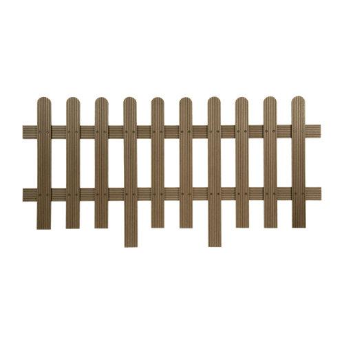 Valla de composite marrón 70x160 cm