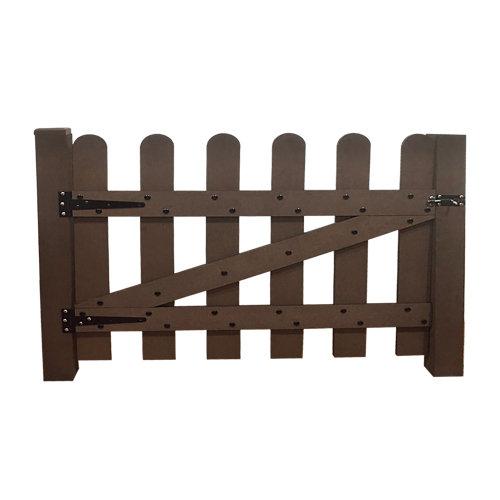 Puerta de composite marrón 65x76 cm