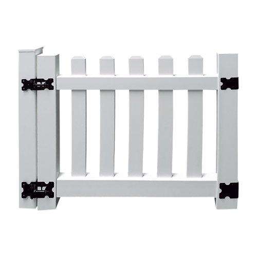 Puerta batiente de pvc blanco 100x93 cm