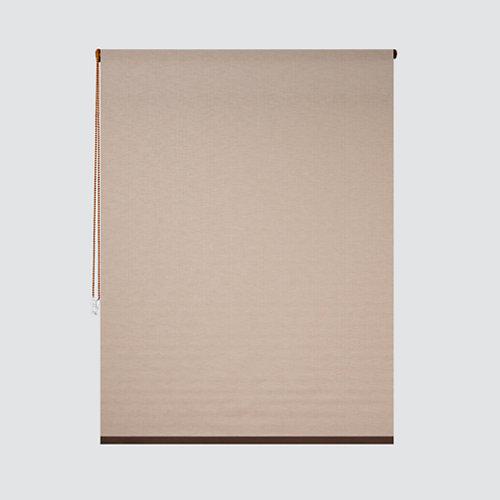 Estor enrollable translúcido petra beige de 124x250cm