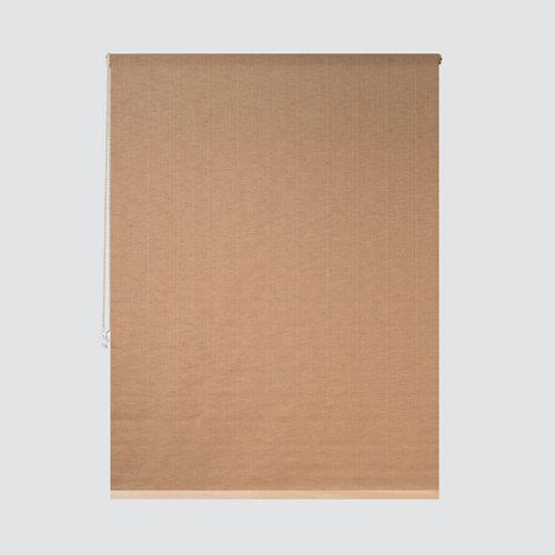 Estor enrollable translúcido petra lino marrón de 109x250cm