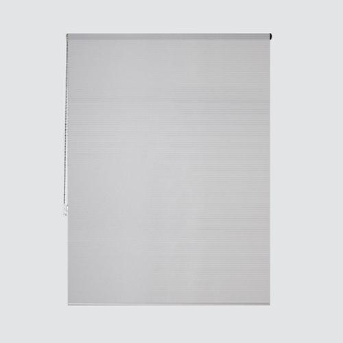 Estor enrollable translúcido cebra blanco de 124x250cm