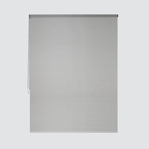 Estor enrollable translúcido cebra plata gris de 124x250cm
