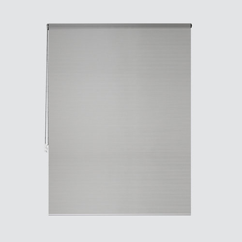 Estor enrollable translúcido cebra plata gris de 184x250cm