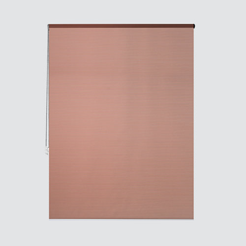 Estor enrollable translúcido cebra cobre naranja de 124x250cm