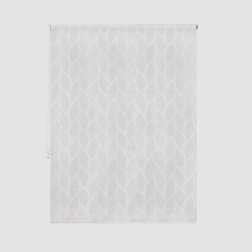 Estor enrollable maya blanco de 124x250cm