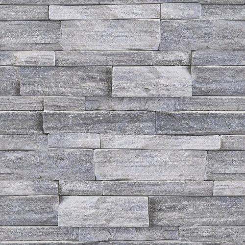 Papel pintado piedra natural gris 5,3 m²