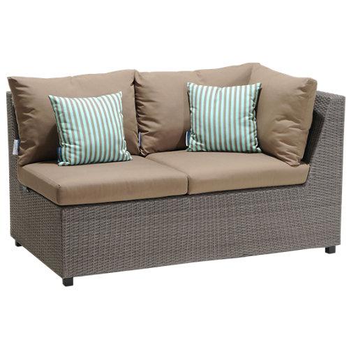 Banco/sofá de exterior de aluminio andaman gris