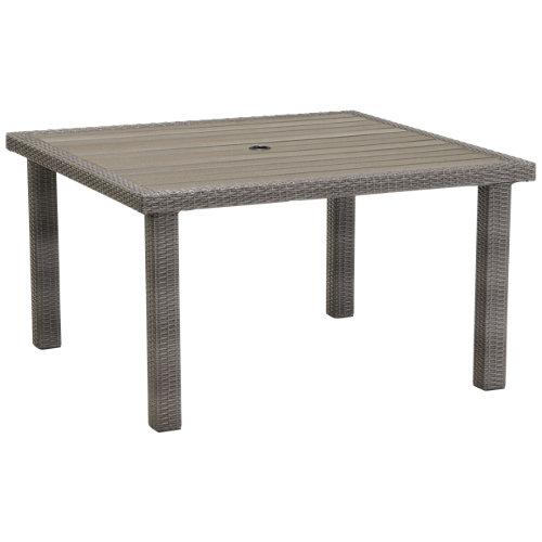Mesa de jardín de comedor de aluminio andaman gris de 125x70.5x125 cm