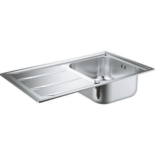 Fregadero para empotrar de acero inox rectangular grohe k400+ 87.3x51cm