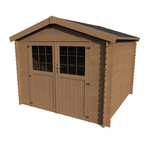 Caseta de madera kabeo axess+ de 288.9x228.5x272.9 cm y 7.88 m2