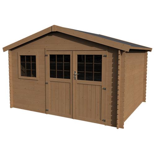 Caseta de madera kerno axess+ de 246x246x302.5 cm y 12.15 m2