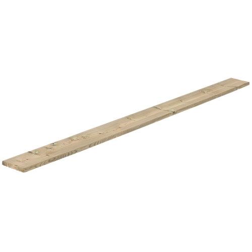 Lama de suelo de exterior de madera 14.5x210 cm y 22 mm